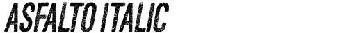 Asfalto Italic
