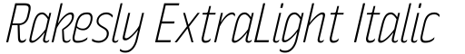 Rakesly ExtraLight Italic