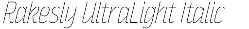 Rakesly UltraLight Italic