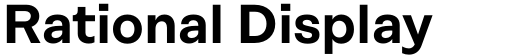 Rational Display DEMO SemiBold