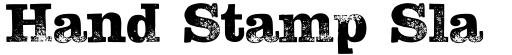 Hand Stamp Slab Serif Rough Regular DEMO
