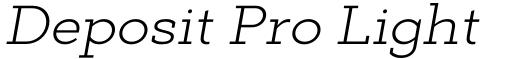 Deposit Pro Light Italic
