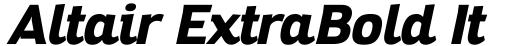Altair ExtraBold Italic