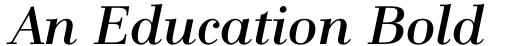 An Education Bold Italic
