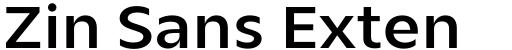 Zin Sans Extended Demo
