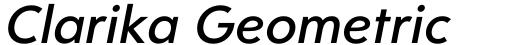 Clarika Geometric Medium Italic