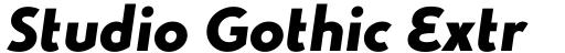 Studio Gothic ExtraBold Italic