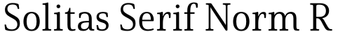 Solitas Serif Norm Regular