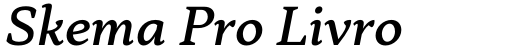 Skema Pro Livro Medium Italic