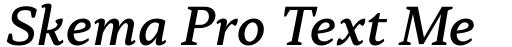 Skema Pro Text Medium Italic