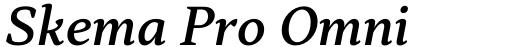 Skema Pro Omni Medium Italic
