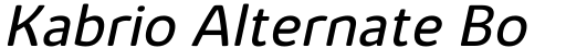 Kabrio Alternate Book Italic