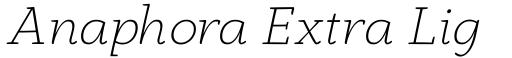 Anaphora Extra Light Italic