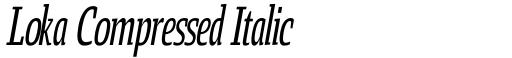 Loka Compressed Italic