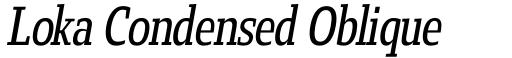 Loka Condensed Oblique