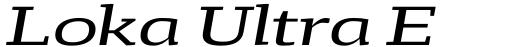 Loka Ultra Expanded Italic