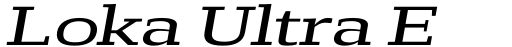 Loka Ultra Expanded Oblique