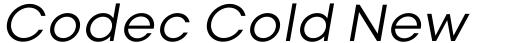 Codec Cold News Italic