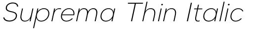 Suprema Thin Italic