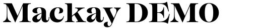 Mackay DEMO Bold