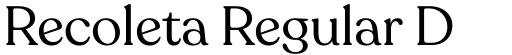 Recoleta Regular DEMO