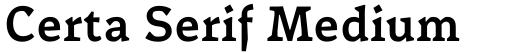 Certa Serif Medium
