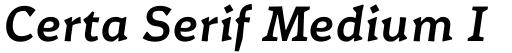 Certa Serif Medium Italic
