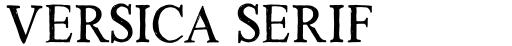Versica Serif