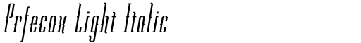 Prfecox Light Italic
