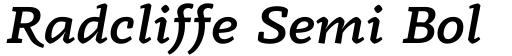 Radcliffe Semi Bold Italic
