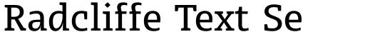 Radcliffe Text Semi Bold