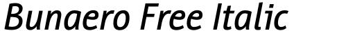 Bunaero Free Italic