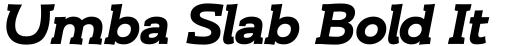 Umba Slab Bold Italic