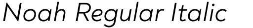 Noah Regular Italic