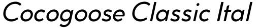Cocogoose Classic Italic Demo