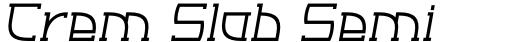 Crem Slab Semi Bold Italic