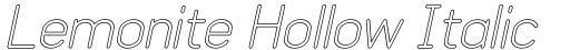 Lemonite Hollow Italic