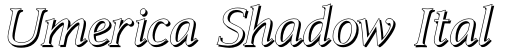 Umerica Shadow Italic