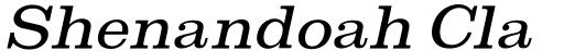 Shenandoah Clarendon Light Italic