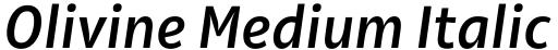 Olivine Medium Italic