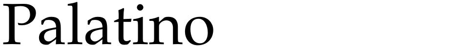 Click to view Palatino font, character set and sample text