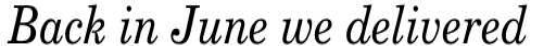 New Century Schoolbook Italic sample