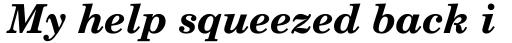 New Century Schoolbook Bold Italic sample
