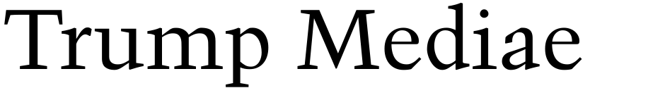 Click to view Trump Mediaeval font, character set and sample text