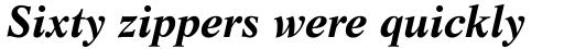 Life Bold Italic sample
