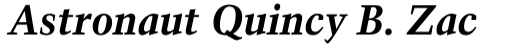 Trump Mediaeval Bold Italic sample
