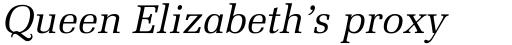 Melior Italic sample