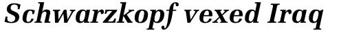 Melior Bold Italic sample