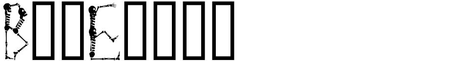 Click to view Boneyard font, character set and sample text