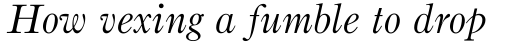 Bruce Old Style Std Italic sample